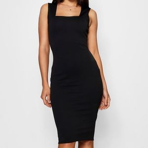 Square Neck Sleeveless Midi Dress